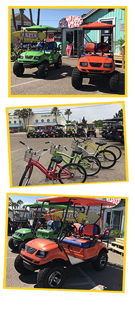 Surf Rentals Port Aransas, Tx. | Carts | Bikes on